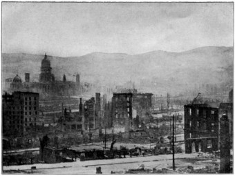 The San Francisco Earthquake: a view of the ruined city.
