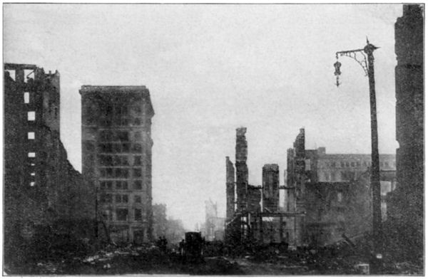 San Francisco Earthquake: Grant Avenue Seen from Market Street