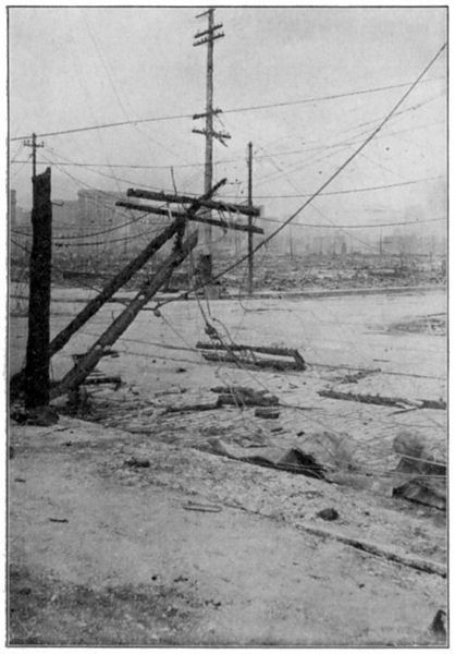 Aftermath of the San Francisco Earthquake: Pulled Down Telegraph and Telephone Wires