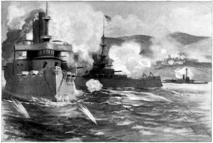 Bombardment of San Juan, Porto Rico by the American fleet