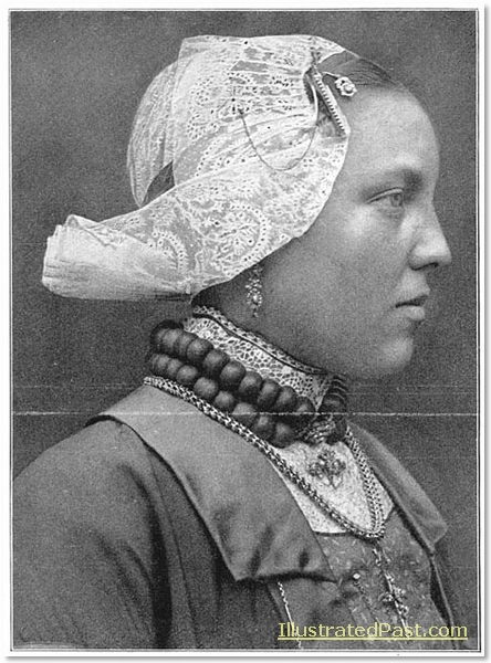 West Friesian Costume: Young Woman Wearing aLace Cap