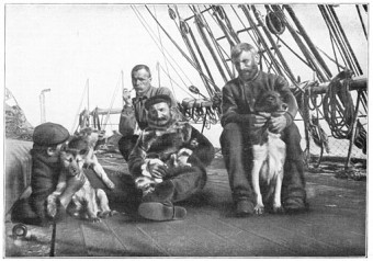 Members of the Antarctic Expedition With Their Sled Dogs