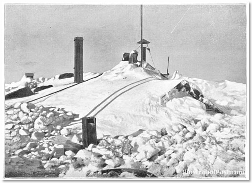 The Antarctic Base Camp - the Huts Buried in Snow, with Chimneys Sticking Out