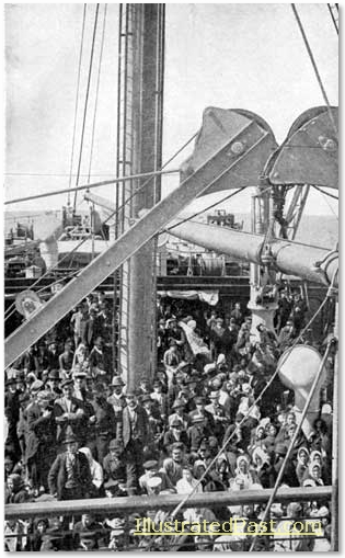 Immigrants on the Deck of Ship
