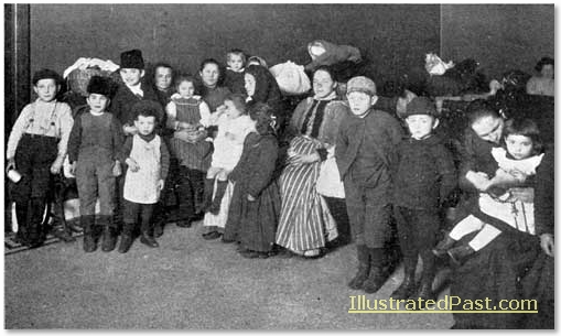 Immigrants at Ellis Island