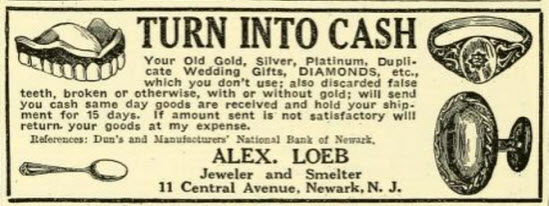 Send unwanted gold, jewelry, false teeth, wedding gifts and get money!