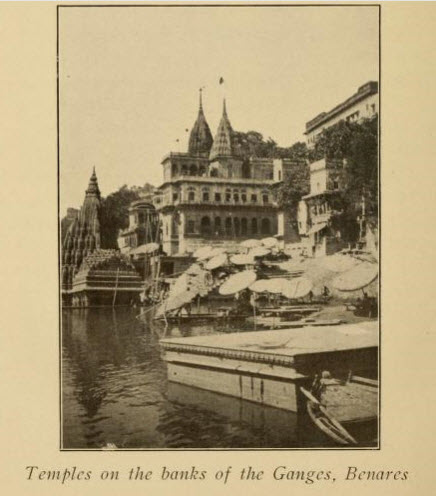 Temple on Bank of the River at Benares