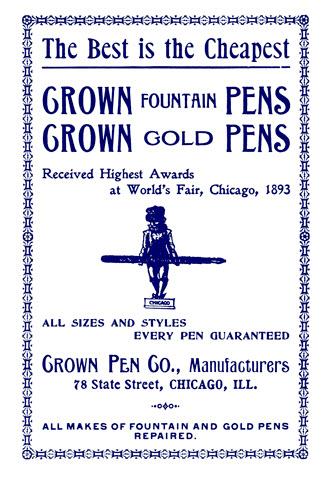 A Magazine Advertisement for a Fountain Pen